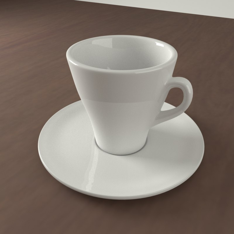 realistic coffee cup 3D model