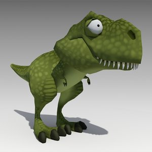3D rex animations model