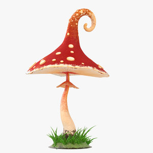 3D model cartoon mushroom