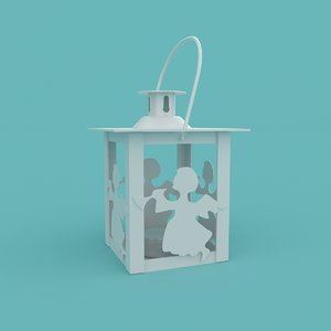 3D lantern christmas angel model