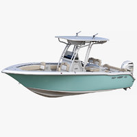 key west 239fs fishing boat 3D model