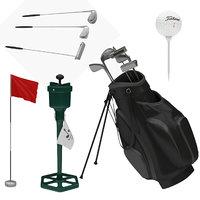 3D golf equipment