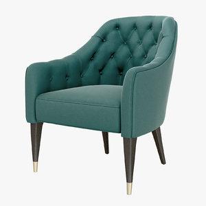 3D model chair cyrus armchair