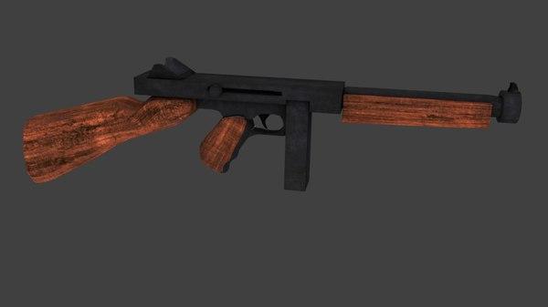 world war 2 submachine gun model