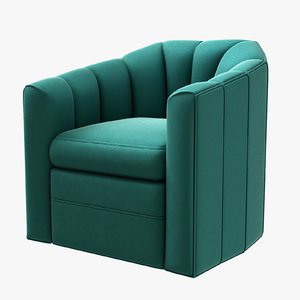 swivel chair delancey sea 3D