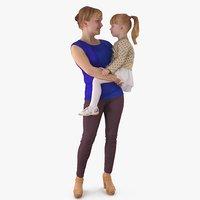 3D baby mother model