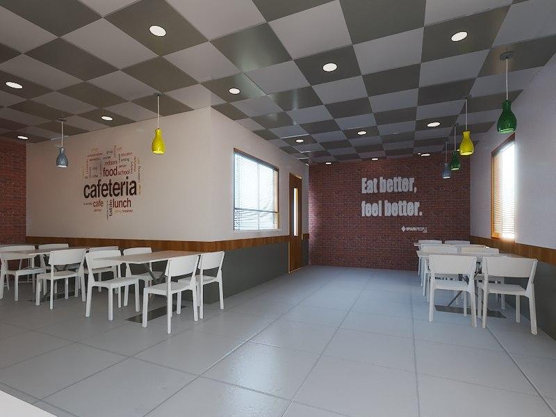 cofee area 3D model