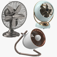3D fans classical contemporary model