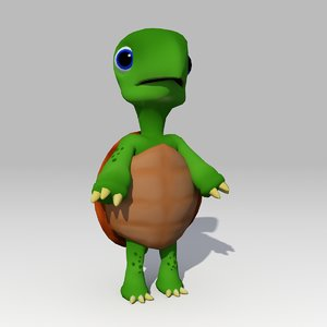 turtle toon animations 3D model