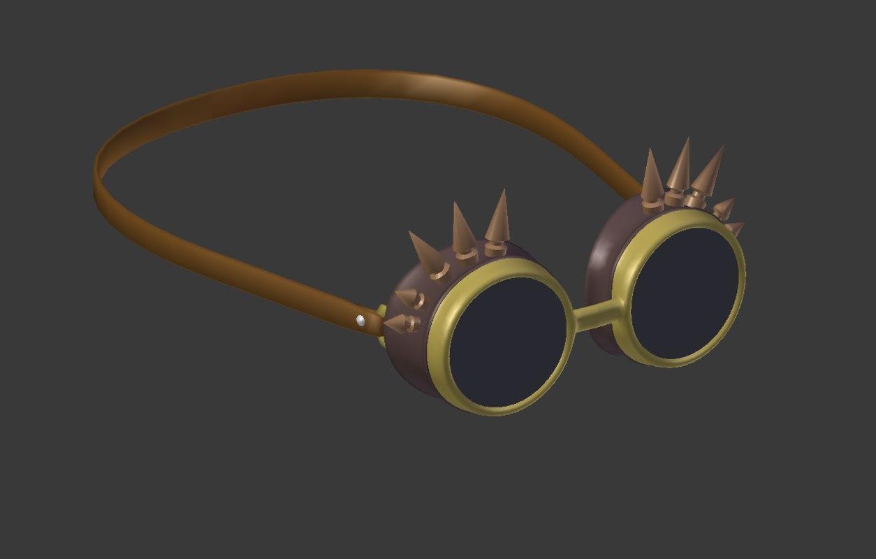 steampunk sunglasses 3D
