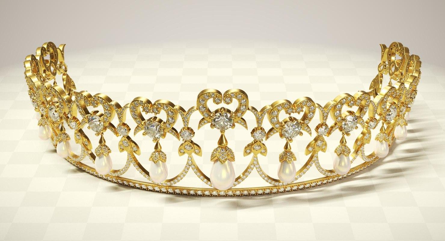 tiara crown diadem 3D model