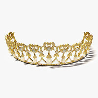 tiara crown diadem 3D model