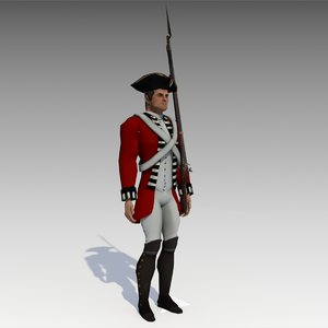 british redcoat soldier 3D model