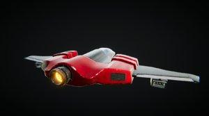 3D scifi space spaceship model