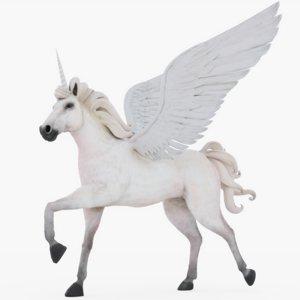 rigged unicorn 3D model