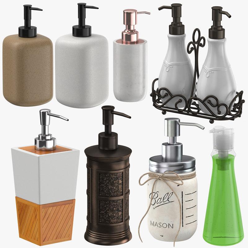 3D soap dispensers model