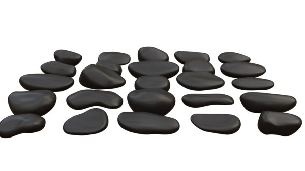 3D gravel stones