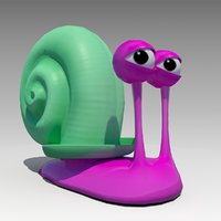 3D snail toon animations