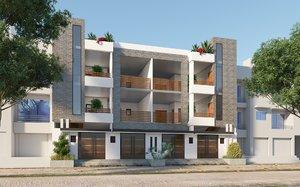 exterior house complete 3D model