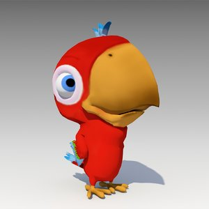 parrot toon animations 3D