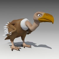 3D vulture animations model