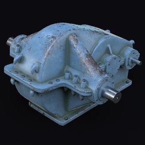reduction gear unit 3D model
