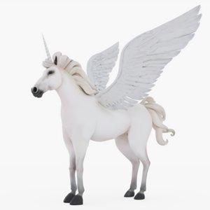 3D unicorn realistic