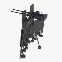 3D m2hb twin browning machine model