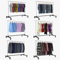 clothing rack collections 3D model