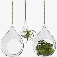 hanging terrariums 3D model