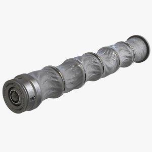 3D sci fi pipe v2