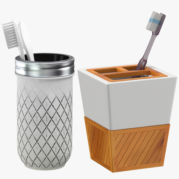 3D toothbrush holders