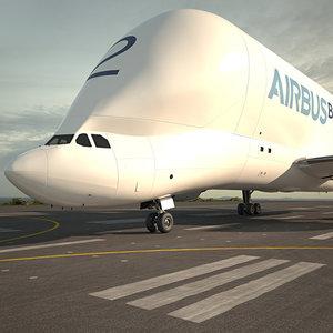 3D model airbus a300-600st a300