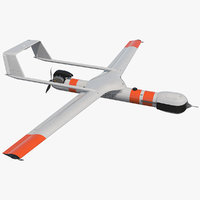 scaneagle 3 uav rigged 3D model