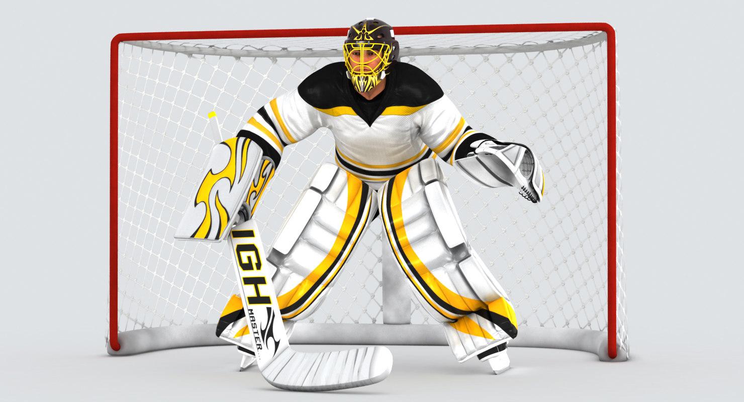 3D hockey goal