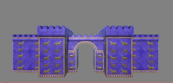 3D arch wall ishtar gate