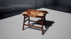furniture october stool 3D model