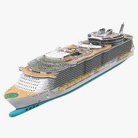 3D passenger cruise ship generic
