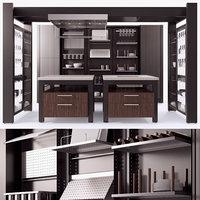 work kitchen - 3D