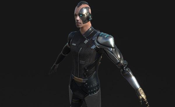 cyberpunk character 3D