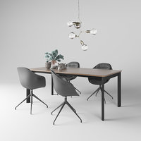 3D table boconcept chair tea set model