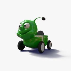 3D model worm car park