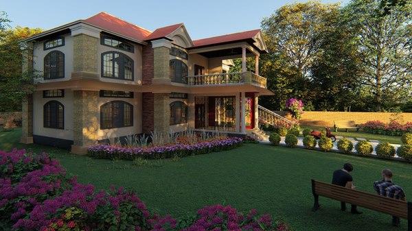 double storey residential 3D model