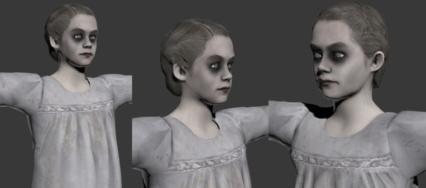 woman character 3D model