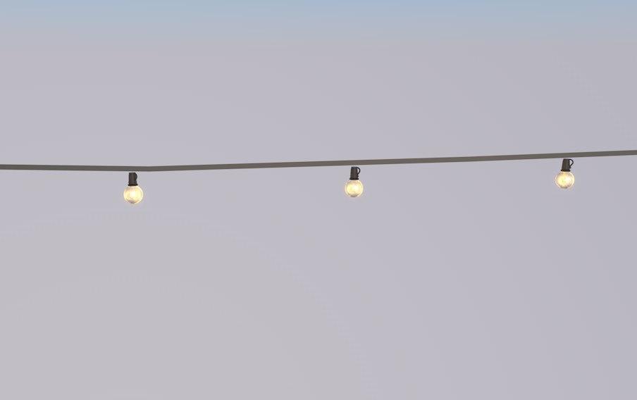 string lights 3D