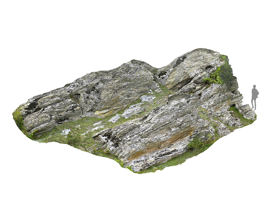 rocky cliffs 16k rocks 3D model