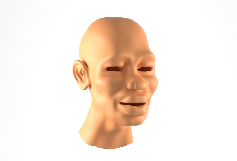 head man african 3D model