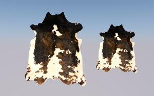 cowhide cow 3D