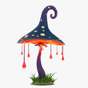 cartoon mushroom v2 3D model
