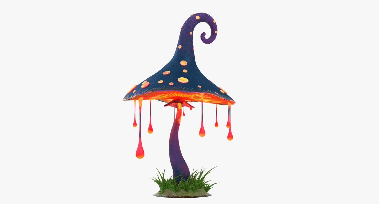 cartoon mushroom v2 3D model